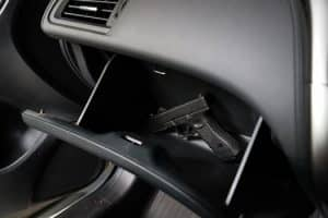 Handgun in a car